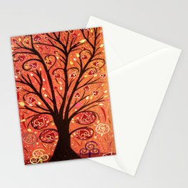 Abstratc tree 5 Stationery Cards