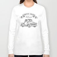 truck Long Sleeve T-shirts featuring Chevy Truck by pakowacz