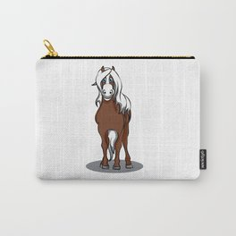haflinger horse Cartoon Riding Pony Gift Present Carry-All Pouch