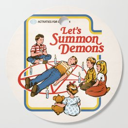 LET'S SUMMON DEMONS Cutting Board