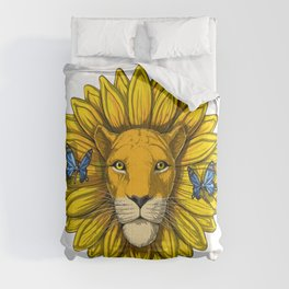 Lion Sunflower Comforters