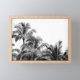 Big Island Palms - Minimal Boho Black and White Framed Mini Art Print
