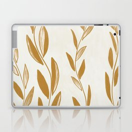 Golden leaves and stems Laptop & iPad Skin