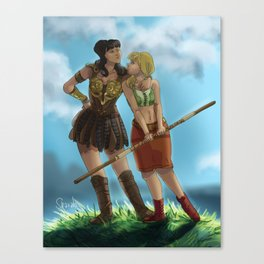 Gal pals but not really Canvas Print