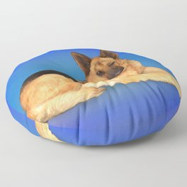 German Shepherd Floor Pillow