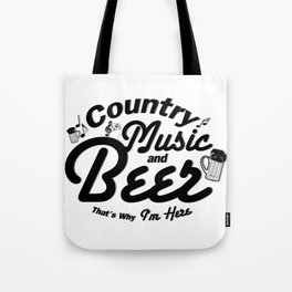 Country Music and Beer Tote Bag