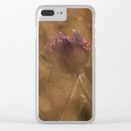 Golden Hour Flower Clear iPhone Case