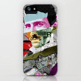 Nikola Portrait Collage Art iPhone Case
