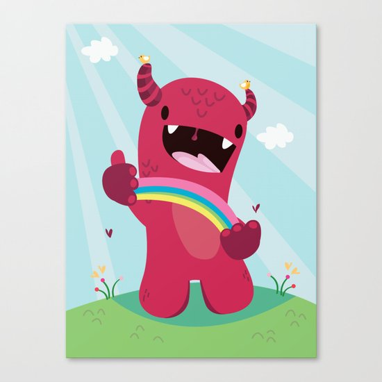 Nature monster Canvas Print
