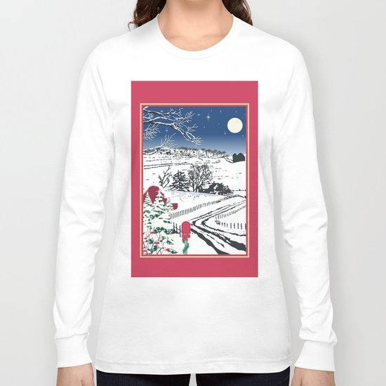Silent Winter Night Silhouette Long Sleeve T-shirt