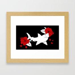 Shark Jolly Roger Framed Art Print