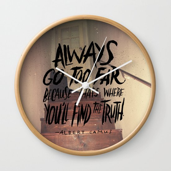 Camus on Finding the Truth Wall Clock