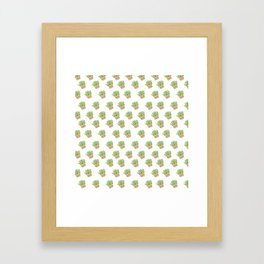 pianta grassa in vaso Framed Art Print