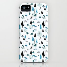 Aliens in the Woods iPhone Case