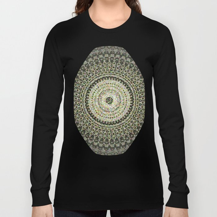 Fractal Kaleido Study 004 in CMR Long Sleeve T-shirt