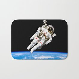 Astronaut Bruce McCandless Floating Free Bath Mat