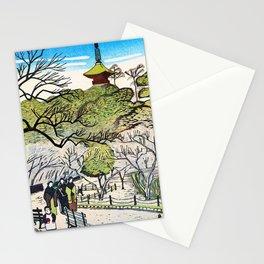 Plum Flower Shiba Park - Digital Remastered Edition Stationery Cards