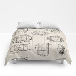 Whisky Barrel Patent - Whisky Art - Antique Comforters