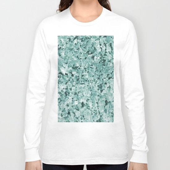 Polished granite verde - turquoise stone Long Sleeve T-shirt
