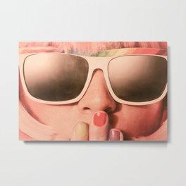 I Wear My Sunglasses at Night Metal Print
