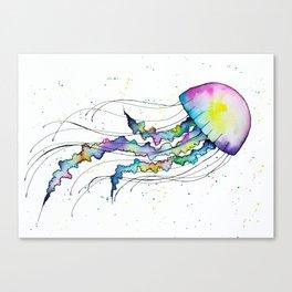 Pastel Jellyfish Canvas Print