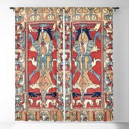 Sehna Kurdish Northwest Persian Rug Print Blackout Curtain