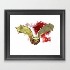 Bat Flight Framed Art Print