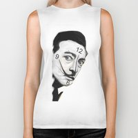 dali Biker Tanks featuring Dali by Dano77