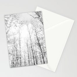 Black and white tree photography - Watercolor series #4 Stationery Cards