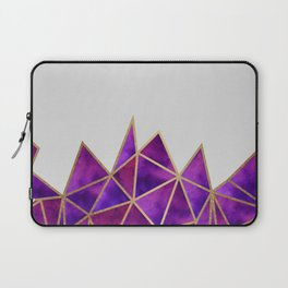Purple & Gold Geometric Laptop Sleeve