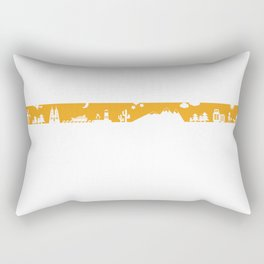 Find your angle_Travel_MonoOrange Rectangular Pillow