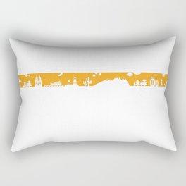 Find your angle_Travel_MonoOrange Rectangular Pillow