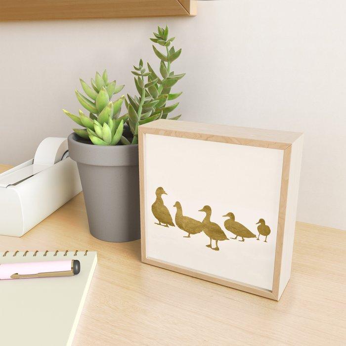 Golden Ducks Framed Mini Art Print