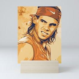 rf, roger federer, roger, federer, tennis, wimbledon, grass, tournament, ball, legend,  Illustration Mini Art Print