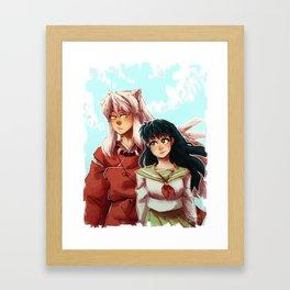 Kagome + Inuyasha  Framed Art Print