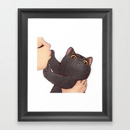 cat : huuh Framed Art Print