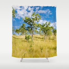 Savannah landscape Shower Curtain