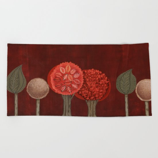 Red Grove Beach Towel