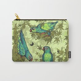 Parrots & Weeds Carry-All Pouch