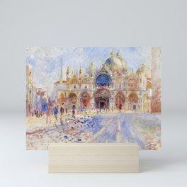 Pierre Auguste Renoir - The Piazza San Marco, Venice Mini Art Print