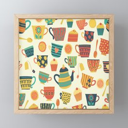 Tea Time Pattern - Sweet Treats Framed Mini Art Print