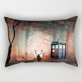 TARDIS IN THE FOREST Rectangular Pillow