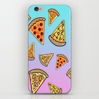 pizza iPhone & iPod Skins featuring PIZZA by SteffiMetal