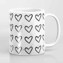 Big Heart Ink Pattern Coffee Mug