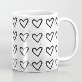 Big Heart Ink Pattern Coffee Mug