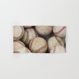Many Baseballs - Background pattern Sports Illustration Hand & Bath Towel
