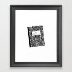 composition book Framed Art Print