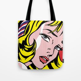 Girl with Hair Ribbon Tote Bag
