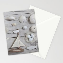La Mer Beach Collage For Ocean Lovers Stationery Cards