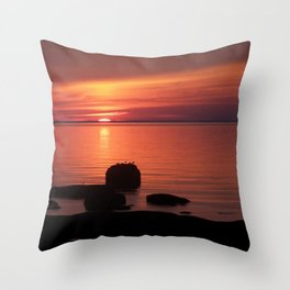 Peaceful Reflections of Nature at Dusk Throw Pillow